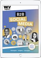 Ipad-Ansicht Cover W&V Reort BtoB Social Media
